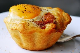 Bacon and egg savory cupcakes. 3 simple ingredients: eggs, bacon, and ...