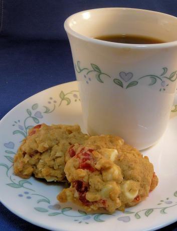 White Chocolate Macadamia Cherry Oatmeal Cookies, except I like to ...