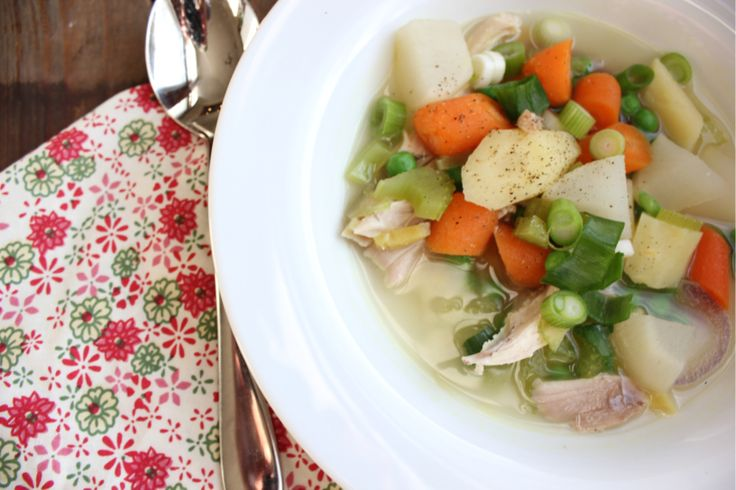 Ginger Chicken Soup with Vegetables | Kara's Cuisine | Pinterest