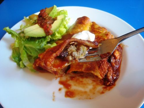 Turkey and black bean enchiladas (as well as a recipe for homemade ...
