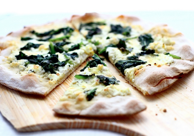Pizza with Broccoli Rabe, Fontina and Meyer Lemon http://theyearinfood ...