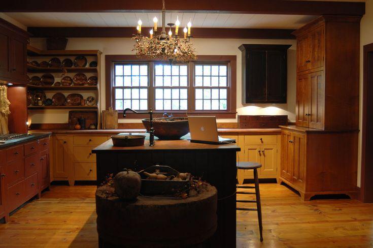 Hydrangea Hill David T Smith Kitchen Primitive Kitchen