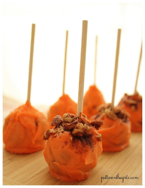 Pumpkin Spice Cake Pops | Pops.Balls.Truffles.Marshmellows and More ...