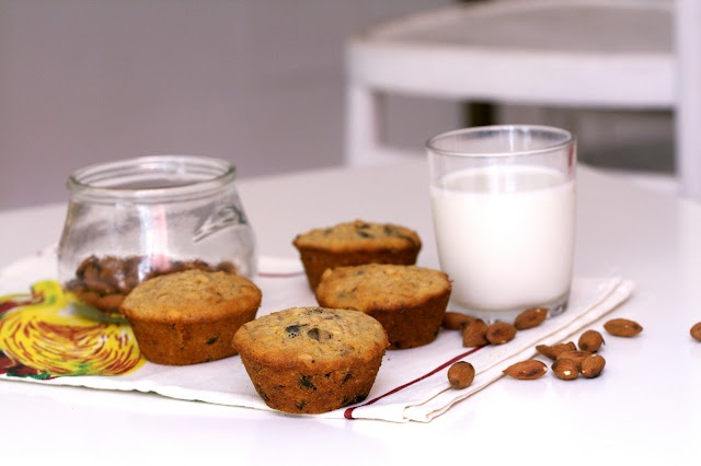 Dried Plum and Oat Muffins- replace butter w/applesauce