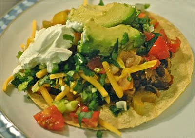 Vegetarian Tostadas from Ashley's Cooking Adventures