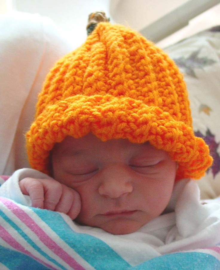 Free Newborn Pumpkin Hat Crochet Pattern : Free Crochet Pattern Pumpkin Hat #59 Crocheting Pinterest