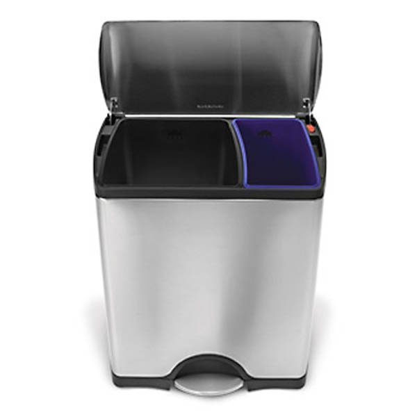 simplehuman dual trash can recycle bin for the home pinterest. Black Bedroom Furniture Sets. Home Design Ideas