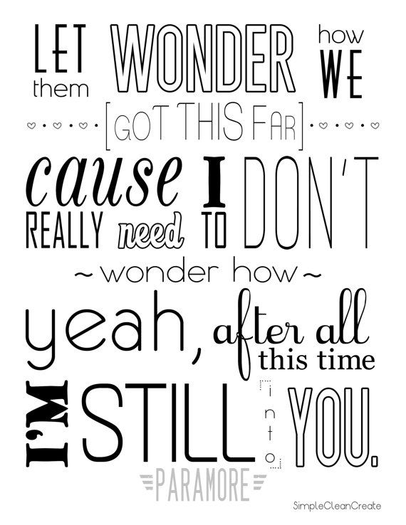 paramore quotes still into you - photo #5