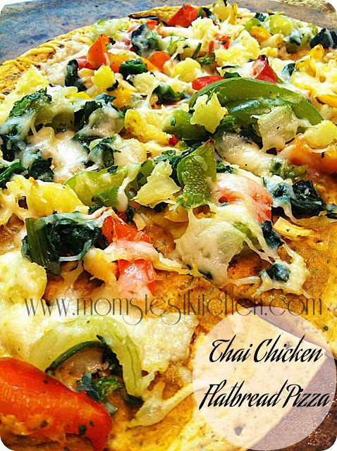 Thai Chicken Flatbread Pizza | Brainstorm | Pinterest