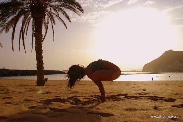 Urdhva Kukkutasana by Monika Bobkowska | Yoga | Pinterest