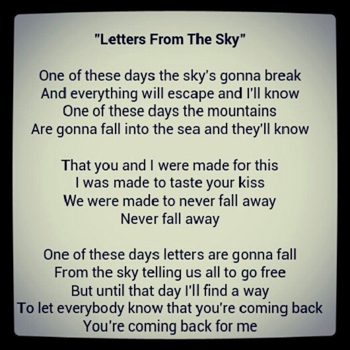 Letters From The Sky~Civil Twilight | Obsessed with Music. | Pinterest