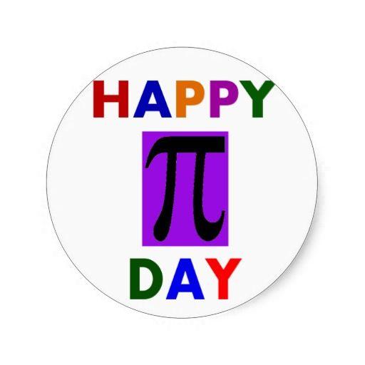 HAPPY PI DAY STICKERS http://www.zazzle.com/happy_pi_day_stickers ...