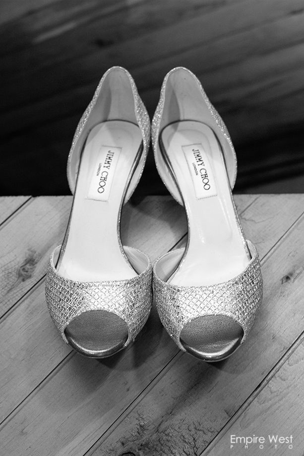 Jimmy Choo Wedding Shoes :: photo by Empire West Photo