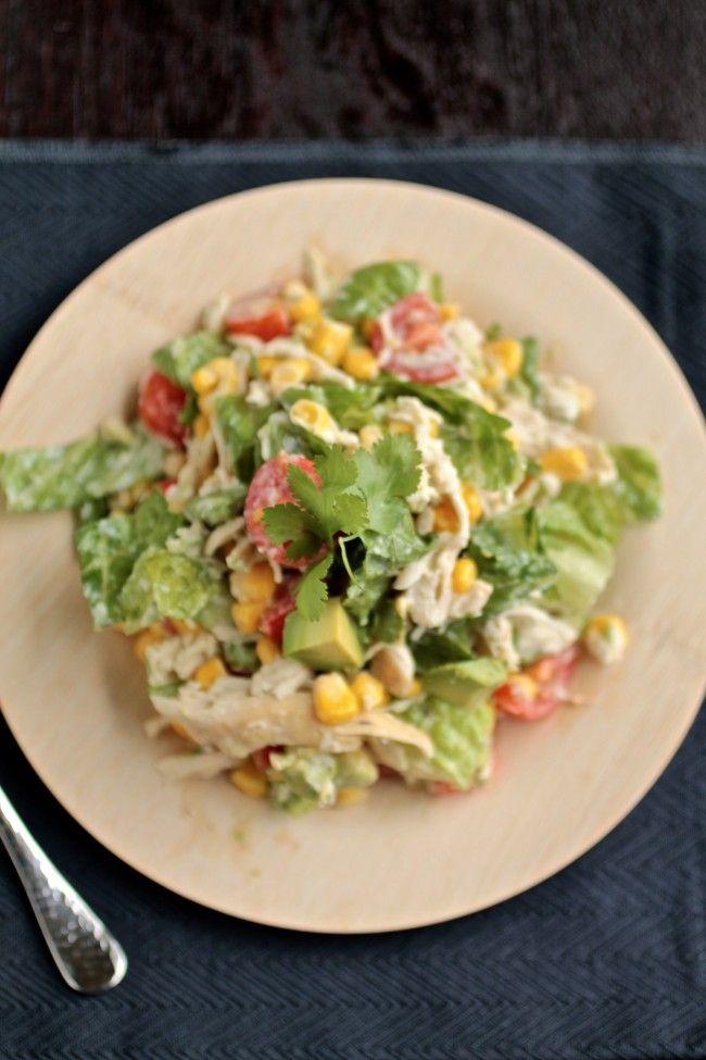 Cilantro Chicken Chopped Salad - corn is not on plan
