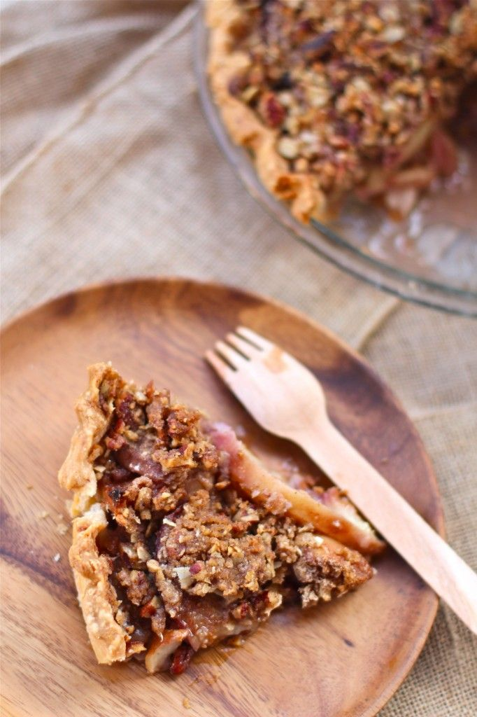 Peach Pie Crumble with a Carmel Whiskey Sauce | The Seaside Baker
