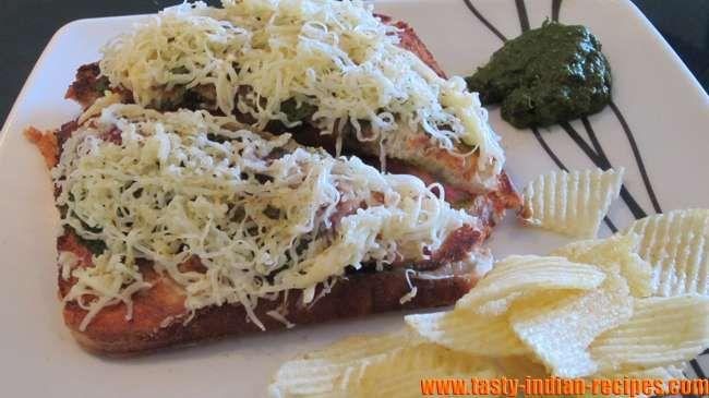 Double Cheese Toast Sandwich Recipe | recipes | Pinterest