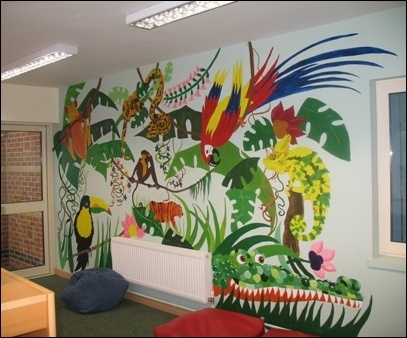 Pin by ele ballesteros on classroom ideas pinterest for Library painting ideas