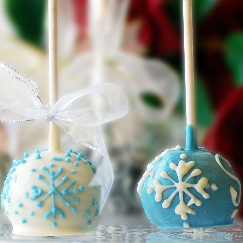 Snowflake cake balls yes!