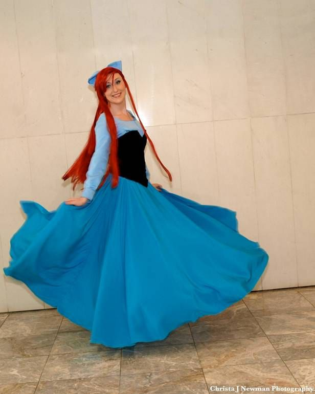Ariel little mermaid costume blue dress