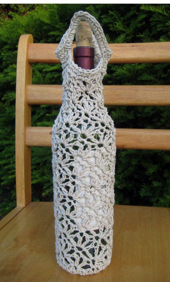 Wine Bag Crochet Gifts Pinterest