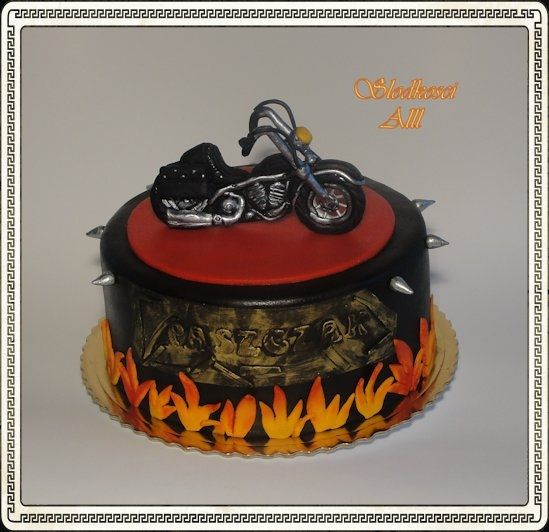 Motorcycle Birthday Cake Ideas and Designs