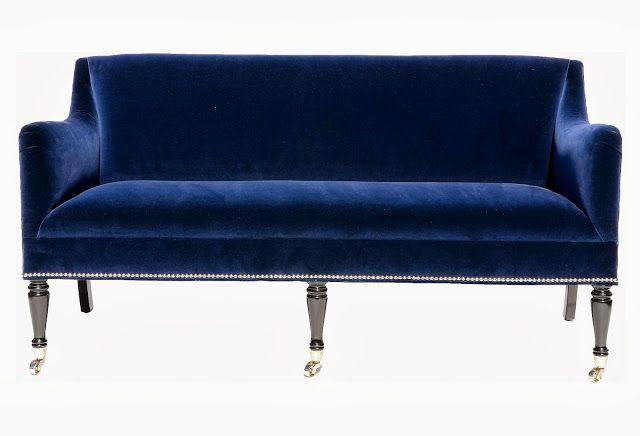 Navy Blue Velvet Couch Sofa Sofa Pinterest