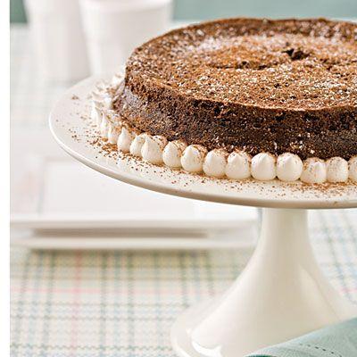 Recipe: Dark Chocolate-Bourbon Tarte | SouthernLiving.com | #Chocolate