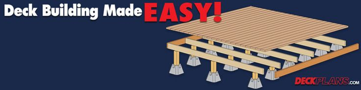 Easy floating deck plans for the home pinterest for Simple floating deck plans