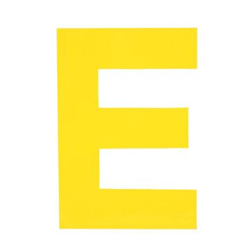 Enamel Letter E Yellow, $15, now featured on Fab.
