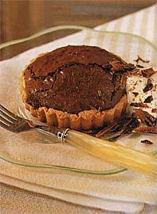 Chocolate whiskey souffle tarts...perfect for st patrick's day dinner!