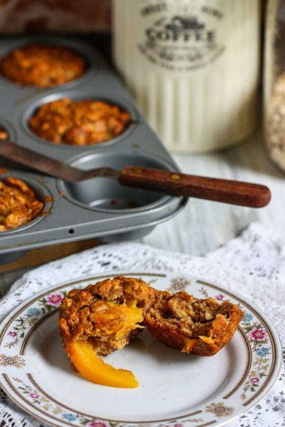Whole Wheat Banana Peach Muffins | food | Pinterest