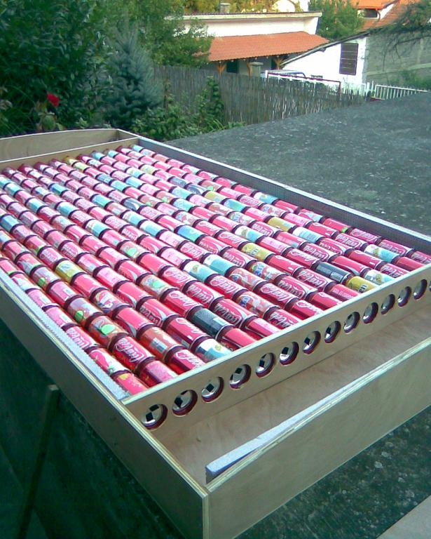 Tin can diy solar panels for heating diy building manual for Tin can solar heater