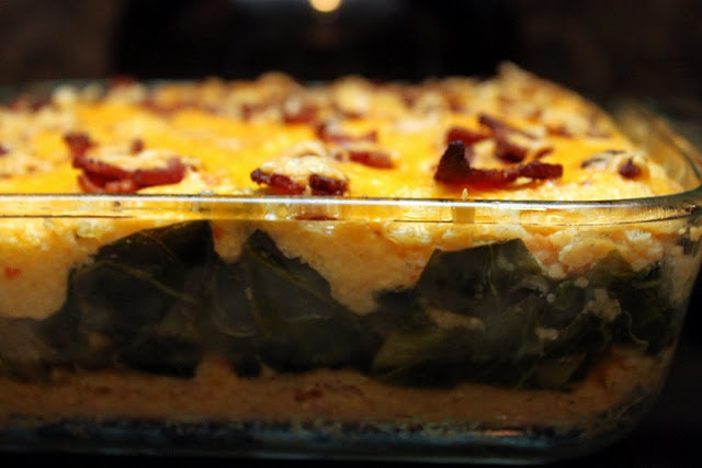 grits + greens casserole. | Favorite Recipes | Pinterest