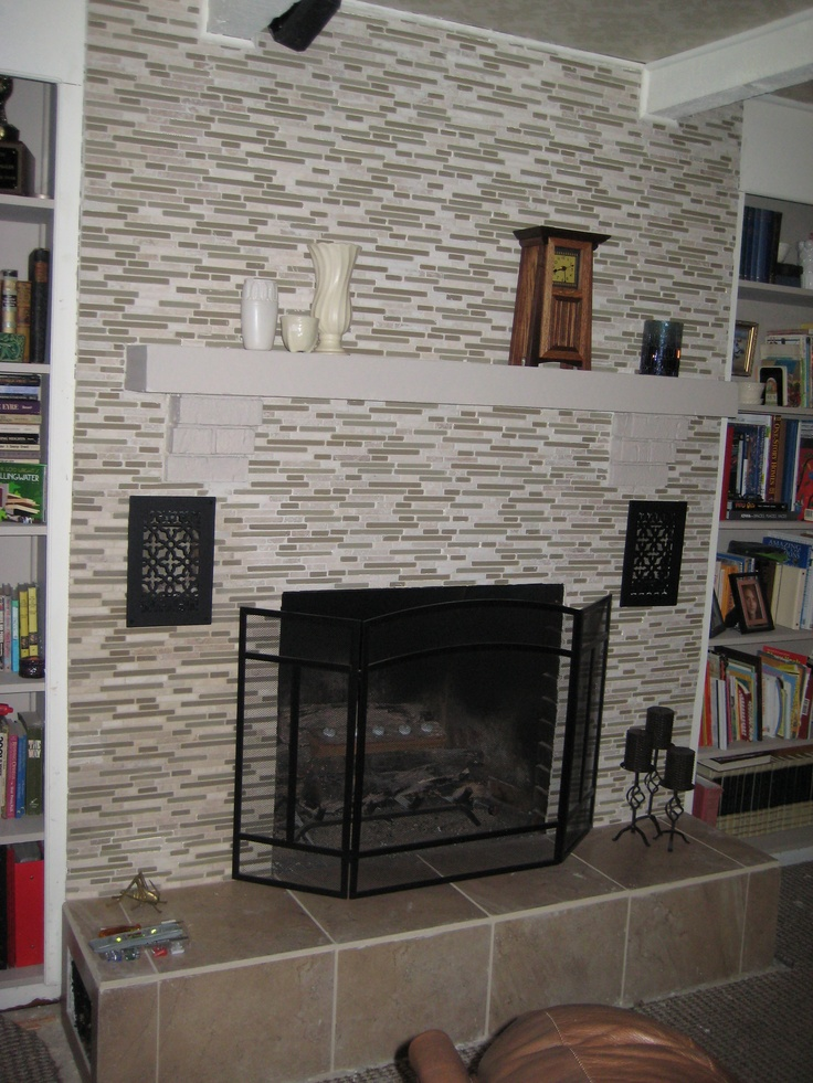 Our Completed Refaced Fireplace Fireplaces Pinterest