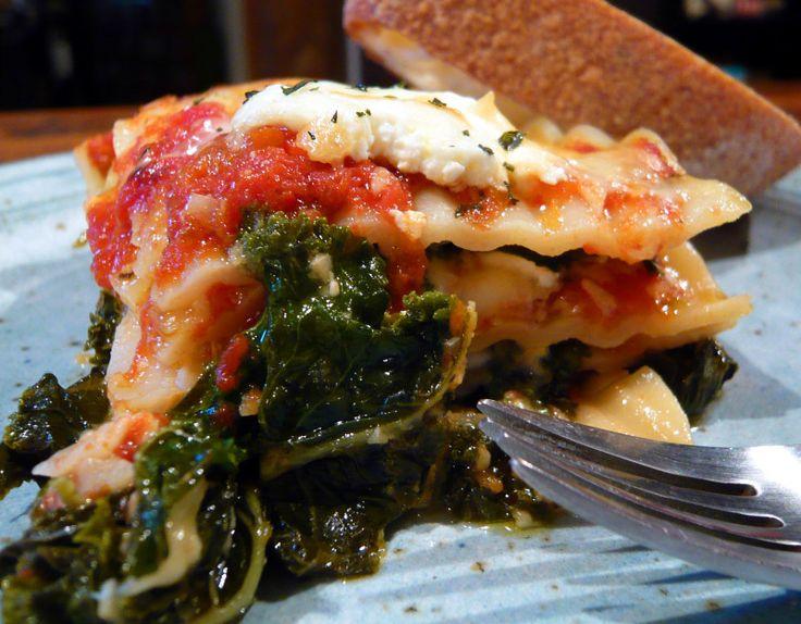 kale & arugula lasagna | Kale recipes | Pinterest