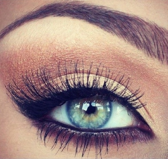 Gold makeup eyeshadow
