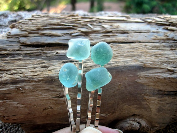 A nicely color matched set of wearable seaglass.