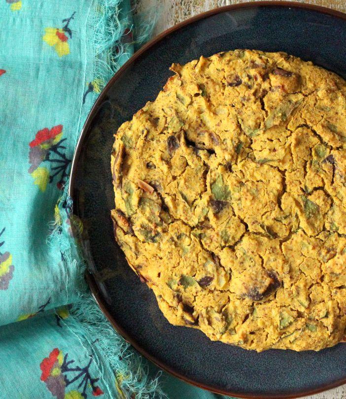 Richa: Soy-free Mushroom Chard Shallot Almond-Feta cheese Frittata ...