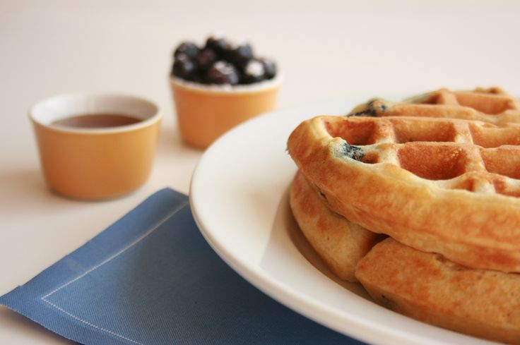 Sour Cream Blueberry Waffles | WAFFLE MAKER RECIPES | Pinterest