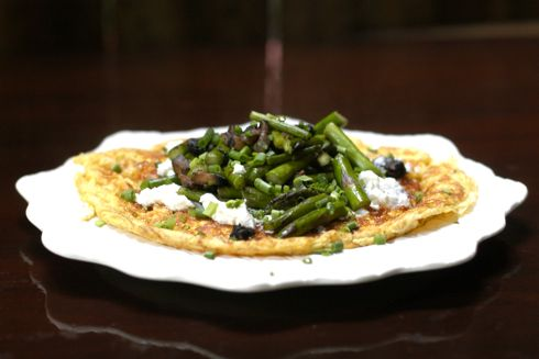 ... asparagus and goat cheese asparagus and goat cheese omelet for two
