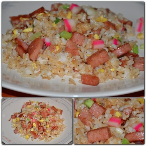 Spam Bacon Fried Rice | spam the canned meat | Pinterest