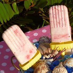 Creamy Raspberry Ice Pops Allrecipes.com | Food! | Pinterest