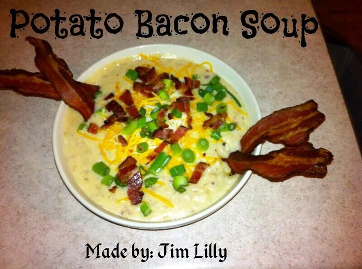 Easy Crockpot Potato Bacon Soup