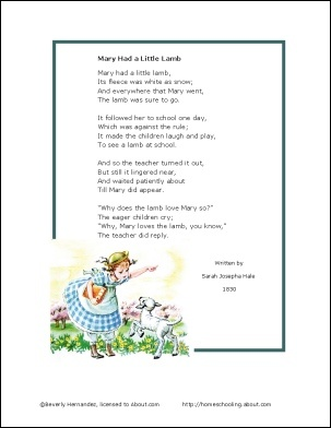 Lamb Nursery Rhyme Storybook Quotmary Had A Little Lambquot Preschool