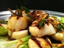 ... grill or grill pan to medium high heat. 5.Place scallops on grill