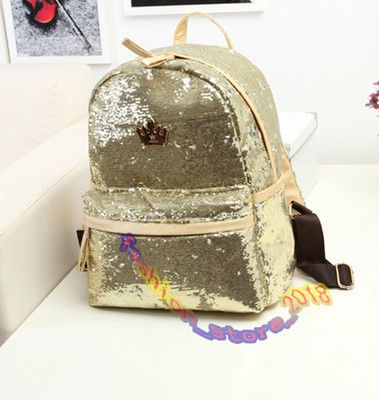 Hot Sell Women's Fashion Sequins Backpack Women Ladies Girls Leisure