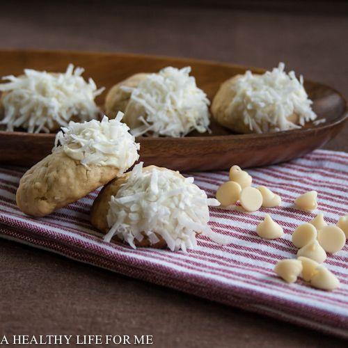 ; White Chocolate Coconut Cookies; baking powder, baking soda, flour ...