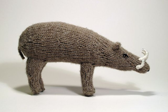 Knit Babirusa by Tapir Girl: http://wp.me/pjlln-2tf #knitting #KnitHacker #knit