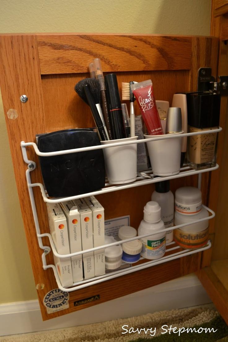 Bathroom Sink Rack : spice rack under the bathroom sink Bathroom Stuff Pinterest
