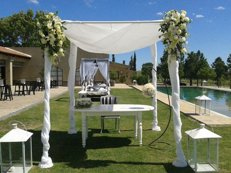 Decoracion Bodas Al Aire Libre ~ Hermosa Decoraci?n para boda al aire libre por Mariela Boghossian